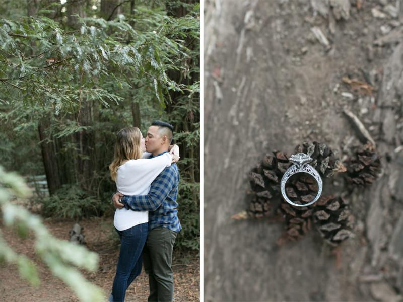 Oakland Redwoods Engagement Photographer